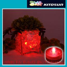 Luces individuales con pilas en venta-Venta al por mayor 2CR2032 pilas impermeables solo mini llevó luces florales sumergibles para la decoración de la pieza central 36pcs / lot jarrones de cristal