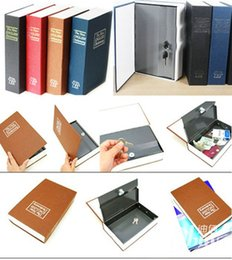 Wholesale new quality and brand Dictionary Book Safe Security Cash Money Box with Locker Key money saving piggy bank