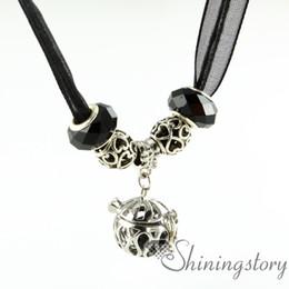 openwork organza necklaces diffuser necklace wholesale essential oil diffuser necklace oil necklace natural lava stone