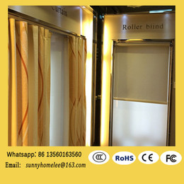 Wholesale 2015 hot sale meter width electric curtain blind size customed wireless motorized curtains luxury rolling curtain motor