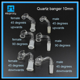 Best Quality Quartz Nail for Oil Rigs 10mm 14mm 18mm Quartz Domeless Female Male Female Quartz Nail 45 90 Degree Quartz Nail