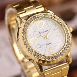 Wholesale Hot Selling Vine Gold Quartz Watches New Fashion Ladies Marble Mirror Women Dress Watches dresses ebay
