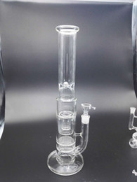 Brand quality free shipping double-layer glass 2 layers of glass honeycomb filters glass water pipe water pipe
