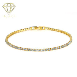 Wholesale New Simple Style Beautiful Handmade K Rose Gold Plated Inlaid CZ Diamond Bead Chain Bracelet Rhinestone Bangle for Women