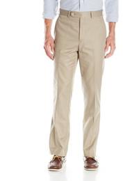 Wholesale 2016 Hot Sale Suit Trousers New Men s Classical Dress Pants Dress Men True Travel Wear Flat Front Separate Pant