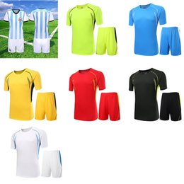 Wholesale Absorbent Breathable Quick Drying Soccer Jerseys Color Short Sleeve Shorts Football Clothing Men s Sportswear Can Print