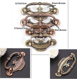 Wholesale Antique Bronze Color Dresser Cabinet Drawer Door Pulls Handles Knobs Zinc Alloy Furniture Hardware