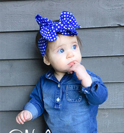 Baby Hair Accessories Big Bowknot European style dot Princess Babies Girl Hair Band Headband Baby's Head Band Hairwear