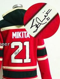 Wholesale 30 Teams Autographed Hoodies Jerseys Chicago Blackhawks mikita Embroidery logo Accept Mix orders