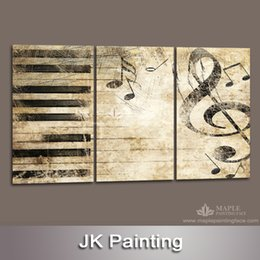 Large 3 Piece Canvas Art Decor Painting of Music Melody Wall Pictures for Living Room Modern Wall Art Painting -- Canvas Prints