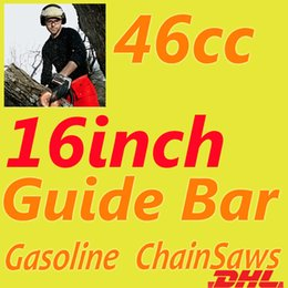 Wholesale DHL FREE US Professional Wood Cutter cc Chainsaw KW inch Guide Bar Hand Tools Air cooling Chainsaw Gasoline Chain Saw