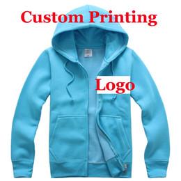 Wholesale Custom printed hoodies low cost ustom Printed Hood Gardian Blank Zipper Jumper Silk Screen printing Digital print Graphic XXL HY
