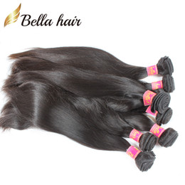 Malaysian Straight Weaves 100% Virgin Human Hair Silky Straight Extensions Cheap Human hair Bundles Free Shipping Bellahair 8A 4Pcs