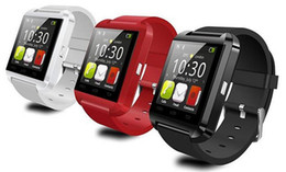 Wholesale Bluetooth Smartwatch U8 U Watch Smart Watch Wrist Watches for iPhone S S Samsung S4 S5 Note Note HTC Android Phone Smartphones