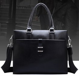 Wholesale mens briefcase mens leather bag man genuine leather bag handbag laptop messenger bag designer computer bag brand name handbag korean bag