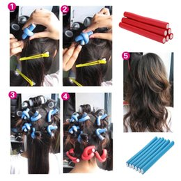 Wholesale 1 cm Width DIY Necessary Professional Hairdressing Tools Magic Bar Hair Roller Curler Bendy Styling Sticks Rotatable H13563