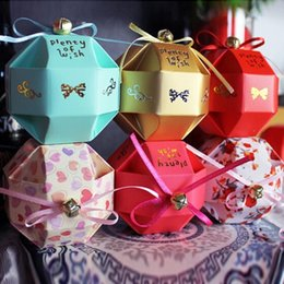 Wholesale yellow bell round ball Wedding box favor paper box favour gift candy boxes Best candy box