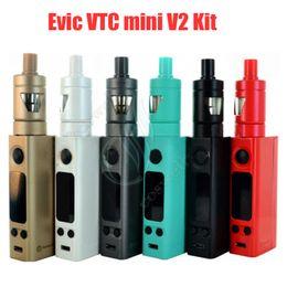 Evic vtc en Línea-Joyetech original Evic VTC mini V2 kit control de la temperatura Joyetech evic vt mini 75w con kit de arranque atomizador Tron-S DHL free