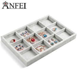 Wholesale-Free shipping bracelet 12 grid jewelry trays jewelry display jewelry boxes stand for jewelry necklace display