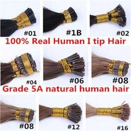 Wholesale i tip hair extensions indian natural hair extension natural human hair extension Red g s