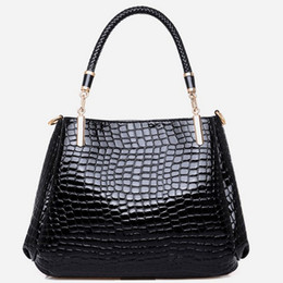 Wholesale 2016 Fashion New Fashion Women Pattern European and American Crocodile Pattern Handbag Shoulder Bag Messenger Composite Bags Buy one get one