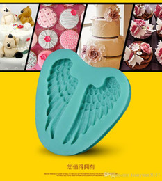 Silicone Angel Wings Fondant Cake Molds Soap Chocolate Mould for the Kitchen Baking Clay Mould Tool TY1763