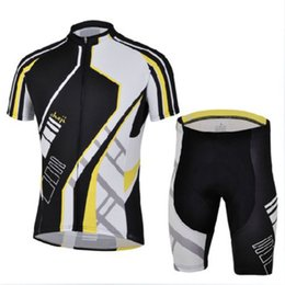Wholesale-Men Bike Short Sleeves Bicycle Jersey (Bib) Shorts Kits Cycling Clothing Zebra
