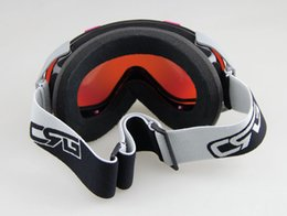 Wholesale-Free shipping PINK BLACK FRAME COLOURED DOUBLE LENS SNOW SNOWBOARD SKI GOGGLES NEW