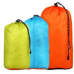 Wholesale New Waterproof Travel Storage Bag Ultralight Silicon Coated Nylon Outdoor Camping Clothing Luggage Sorting Organizer Pouch