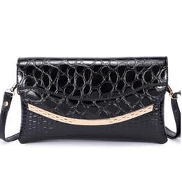 Wholesale 2016 Fashion Crocodile Pattern Evening Bag Clutch For Women PU Clutches Purses Luxurious Evening Handbags leopard purse retail