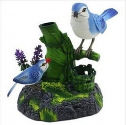 New Creative Electrical Simulation Bird Voice Control Birds For Children's Toys Gift Table Decoration Free Shipping