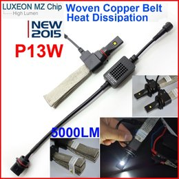 Wholesale 1 Set P13W LM W CREE LED Headlight LUXEON MZ CHIP All in One Xenon White K lm Bulb H1 H3 H4 H7 H8 H11 LED Kit