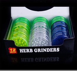 Wholesale Plastic Herb Grinder Cans modeling layer Plastic Tobacco Grinder smoke detectors pope smoking pipes metal smoke pipes Grinders
