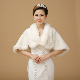 Cheap Fur winter Bridal Wrap Thic Women Shawl For Bride In Stock Real Picture Wedding Accessories In Winte 2016