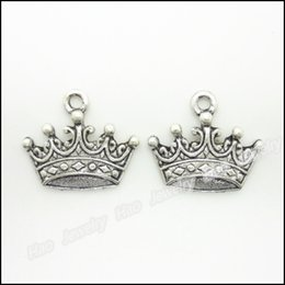 Charms Antique Plated Silver Zinc Alloy Imperial crown Fit Pendant Bracelet Necklace DIY Jewelry 200pcs