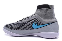 Wholesale New Chaussure Foot Magista Obra IC Indoor Soccer Shoes high ankle zapato de futbol chaussure foot Grey Football Shoes