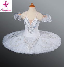 Free Shipping Classical Ballet Tutu White Nutcracker Adult Women Kids Girls Size Ballet Costume For Sale Snow Queen AT1046D