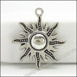 Wholesale 70pcs Vintage Charms Sun Pendant Tibetan silver Zinc Alloy Fit Bracelet Necklace DIY Metal Jewelry Findings
