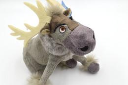 Wholesale 7 pulgadas cm congelado Sven juguetes de peluche de dibujos animados de la película reno Los animales de peluche de juguete encantador de la princesa Muñecas a estrenar CALIENTE