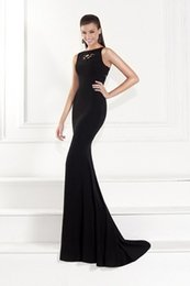 Tarik Ediz Black Lace Evening Dresses Charming Backless Mermaid Tarik Ediz 2015 Fall Vintage Lace Scoop Elegant Sweep Train Prom Party Gowns