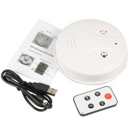 Wholesale Remote Control Smoke Detector Camera Video Recorder Hidden Pinhole Camera Cheapest White HD Smoke DVR Online A0097
