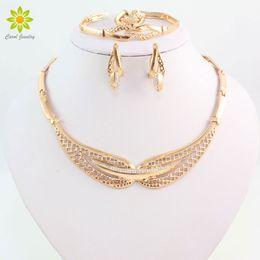 African Beads Crystal Costume Jewelry Set Fine Fashion Necklace Earrings Set Nigerian Wedding Bridal Jewelry Set