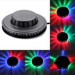 Wholesale 1PCS Black White New Popular Magic Disco DJ Stage Lighting Sunflower LED RGB Bar Party Effect Light lamp