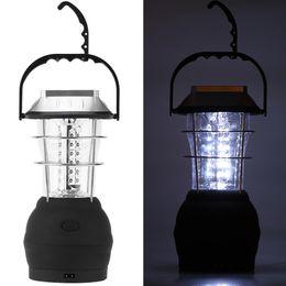 Wholesale Lanterns Power Supply Ways Hand crank Car Charger Adapter Battery Emergency Hiking Camping LED Lanterns Light Lanterna L0791