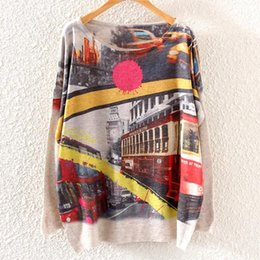 Wholesale 2015 super deal women sweaters and pullovers print lions and tigers loose print sweater for women jumper coat tops