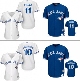 Wholesale Hot sale Cheap Athletic Toronto Blue Jays Women s shirt Ladies Kevin Pillar Baseball Jersey Stitched for sale