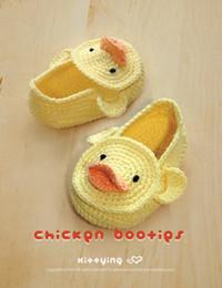 crochet baby shoes handmade Duck Duckling Baby Booties Preemie Socks Animal Shoes Yellow Duck 0-12M cotton yarn custom