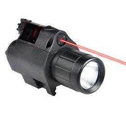 Wholesale New JGSD R Tactical nm Red Laser Sight And LED For Picatinny Rail New w Watt LED W2284A