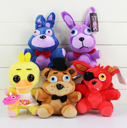 20cm Five Nights at Freddy Fazbear Bear Bonnie Foxy Duck Stuffed Plush Dolls Kid Toys Cartoon game 5pcs