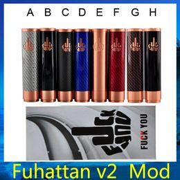 Acheter en ligne V2 fuhattan-Fibre de carbone fuhattan v2 mod Vape mécanique Mod Fuhattan fit 18650 batterie 510 Atomizer vs kbox 40w osmium mod livraison gratuite 0207384 -3